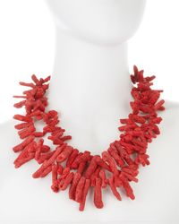 Devon Leigh - Red Coral Necklace - Lyst
