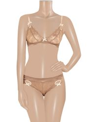 Elle Macpherson - Natural Obsidian Rita Lace and Satin Briefs - Lyst