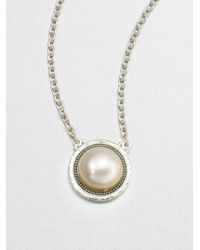 Gurhan | Metallic Gauntlet White Mabe Pearl & Sterling Silver Pendant Necklace | Lyst