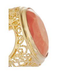 Isharya - Pink 18karat Goldplated Resin Ring - Lyst