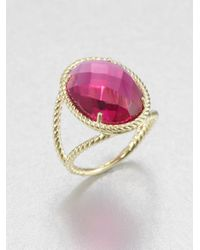 Jude Frances | Purple Fuchsia Quartz 18k Gold Oval Ring | Lyst