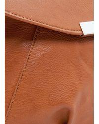 Mango - Brown Metal Plate Shoulder Bag - Lyst