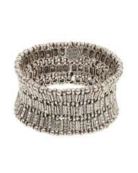 Philippe Audibert | Metallic Ava Crystal Bar Link Cuff | Lyst