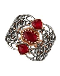 Stephen Webster - Metallic Rhodium and Rose Gold Raspberry Quartz Cuff - Lyst