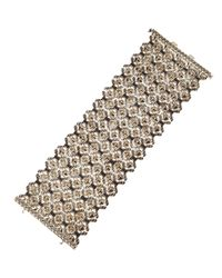Stephen Webster - Metallic Silver Black Sapphire Flexible Cuff for Men - Lyst
