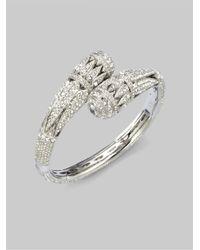 Adriana Orsini - Metallic Crystal Crossover Bracelet - Lyst
