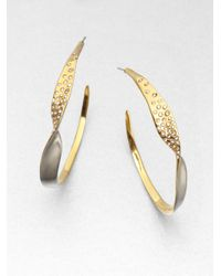 Alexis Bittar | Metallic Twotone Twisted Hoop Earrings | Lyst