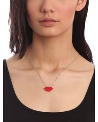 BaubleBar - Red Ruby Lips Pendant - Lyst