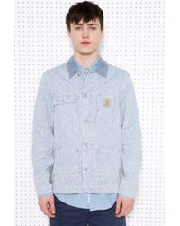 Carhartt   State Blue Bleached Jacket for Men   Lyst