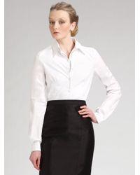 Carolina Herrera | White Doublecollar Shirt | Lyst