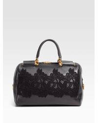 Dolce & Gabbana | Black Miss Sicily Bowling Top Handle Bag | Lyst