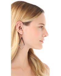 Gemma Redux - Metallic Triangle Drop Earrings - Lyst