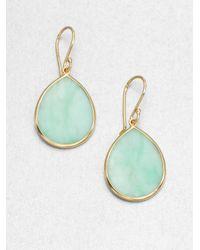 Ippolita - Green Mint Chrysoprase 18k Gold Teardrop Earrings - Lyst