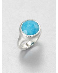 Ippolita | Metallic Turquoise and Sterling Silver Tapered Ring for Men | Lyst