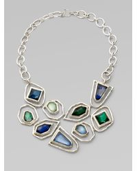 Ippolita | Metallic Quartz Adorned Sterling Silver Bib Necklace | Lyst