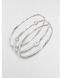 Ippolita | Metallic Sterling Silver and Clear Quartz Bracelet Set | Lyst