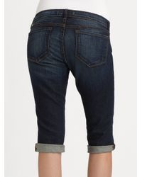 J Brand - Blue Bermuda Denim Shorts - Lyst