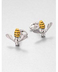 Jan Leslie | Metallic Enameled Bee Cuff Links for Men | Lyst