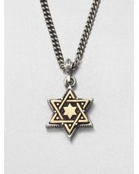 King Baby Studio | Metallic Star Of David Pendant Necklace | Lyst