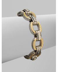 Konstantino | Metallic Sterling Silver 18k Gold Diamond Chain Link Bracelet | Lyst