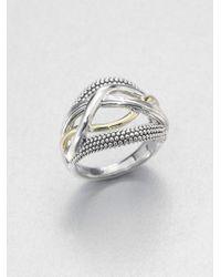Lagos - Metallic Sterling Silver 18k Gold Ring - Lyst