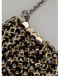 Laura B - Metallic Chainmail Bag Necklace - Lyst