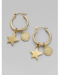 Marc By Marc Jacobs | Metallic Friends Star Hoop Earrings | Lyst