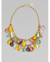 MILLY | Metallic Pastel Bead Bib Necklace | Lyst