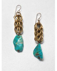 Nest | Green Chrysocolla Chain Drop Earrings | Lyst