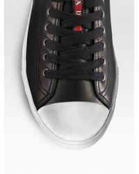 Prada - Black Nappa Leather Sneakers for Men - Lyst