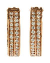 Repossi - Metallic Women's Pave Diamond Berbere Hoop Earrings - Lyst