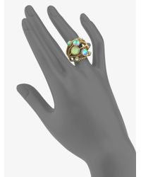 Stephen Dweck - Blue Rock Crystal Bronze Ring - Lyst
