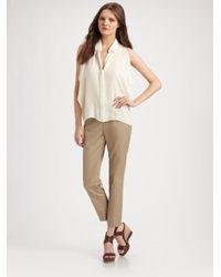 Theory - Natural Belisa Side Zip Skinny Pants - Lyst