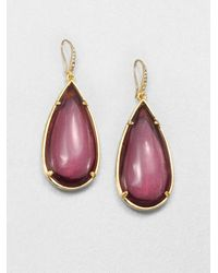 ABS By Allen Schwartz | Metallic Teardrop Earrings | Lyst