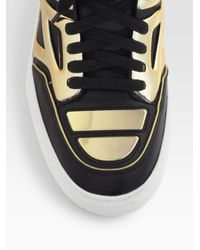 Alejandro Ingelmo - Black Tron Leather Laceup Sneakers - Lyst