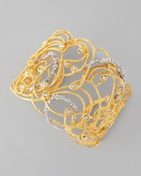 Alexis Bittar | Metallic Mauritius Golden Rhodium Crystal Cuff | Lyst