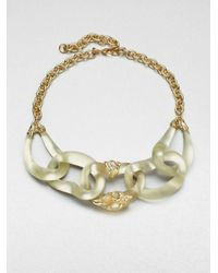 Alexis Bittar - Metallic Lucite and Semiprecious Stone Link Necklace - Lyst