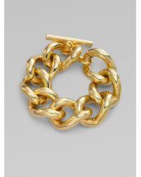 Ben-Amun - Metallic Chunky Curb Chain Bracelet - Lyst