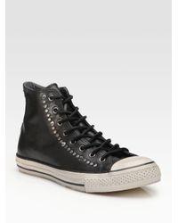 Converse - Black John Varvatos Studded Leather High-tops for Men - Lyst