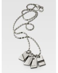 Dolce & Gabbana - Metallic Multidogtag Necklace for Men - Lyst