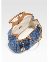 Gucci - Blue Sukey Medium Tote - Lyst
