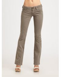 Hudson jeans Signature Bootcut Jeans in Green | Lyst