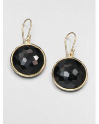 Ippolita | Lollipop Black Onyx & 18k Yellow Gold Large Drop Earrings | Lyst