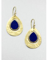 Ippolita | Metallic Lapis and 18k Yellow Gold Earrings | Lyst