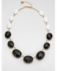 kate spade new york - Black Dual Color Graduated Necklace - Lyst