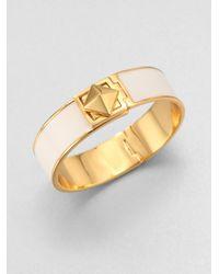 kate spade new york - Metallic Enamel Turnlock Bangle Bracelet - Lyst