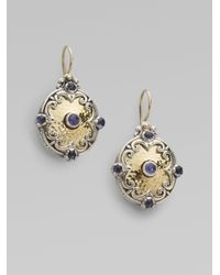 Konstantino | Metallic Iolite 18k Gold Sterling Silver Drop Earrings | Lyst