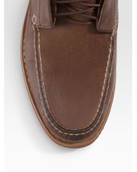 Rag & Bone - Brown Leather Moccasin Boots for Men - Lyst