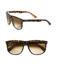 Ray-Ban | Brown Flat Top Boyfriend Wayfarer Sunglasses for Men | Lyst
