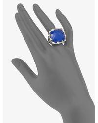 Stephen Webster | Blue Agate & Quartz Crystal Sterling Silver Ring | Lyst